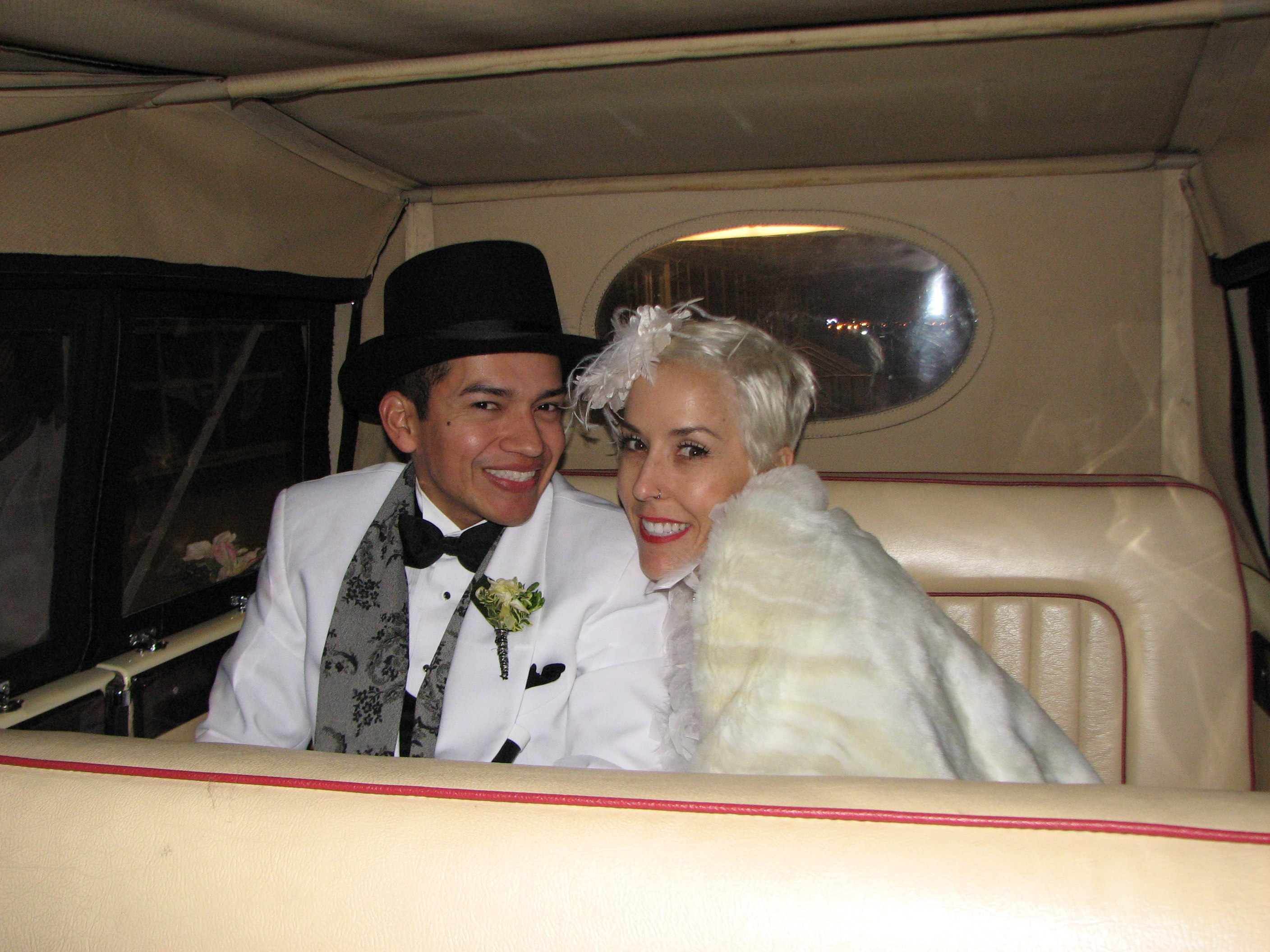 Late night vintage wedding transportation packages