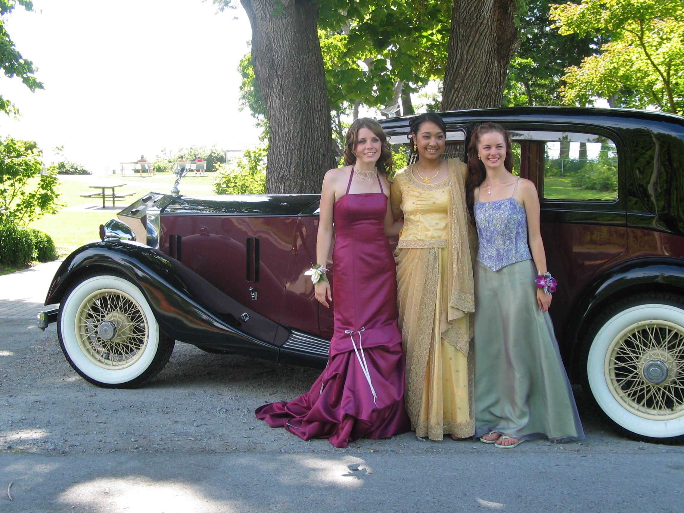 Vancouver prom graduation vintage rental car