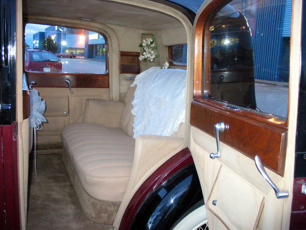 Rolls Royce Limo Interior seats in Vancouver