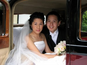 Couple in Vancouver Wedding Limo