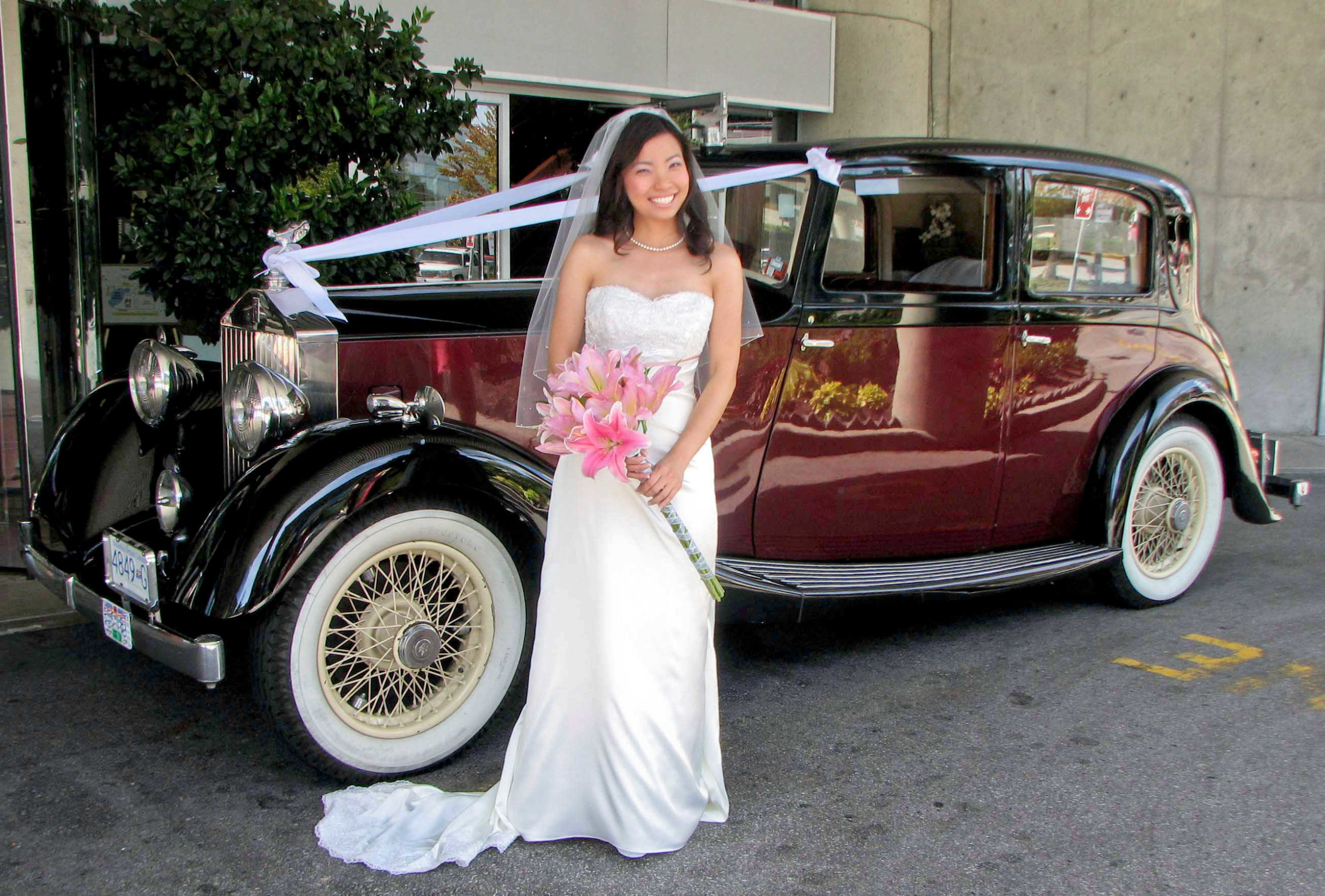 Bride by Vancouver Wedding Limo