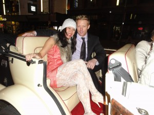 Couple in great Gatsby Vancouver Limo