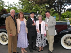 Group poses for special ocassion with Classic Vancouver Limo